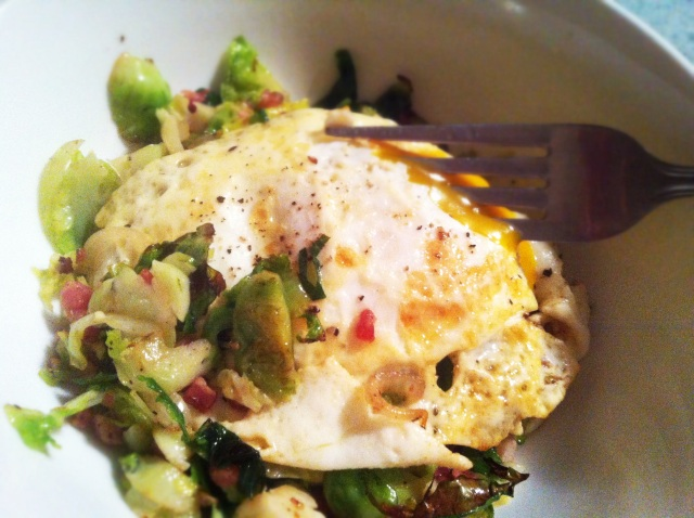 eggs and sprouts